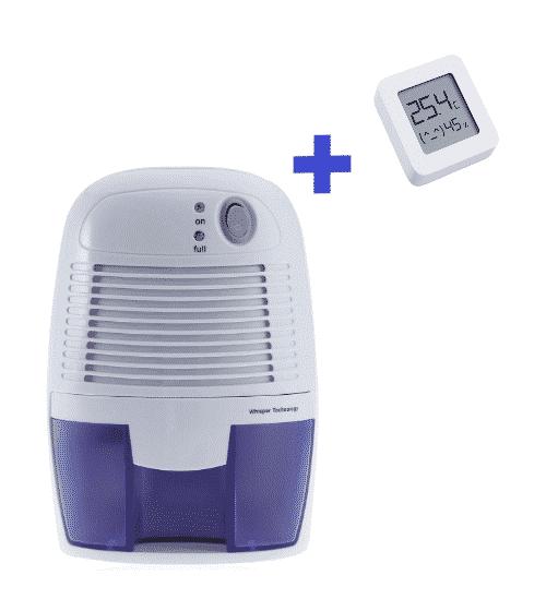 Pack avec uh déshumidificateur et un capteur d'humidité