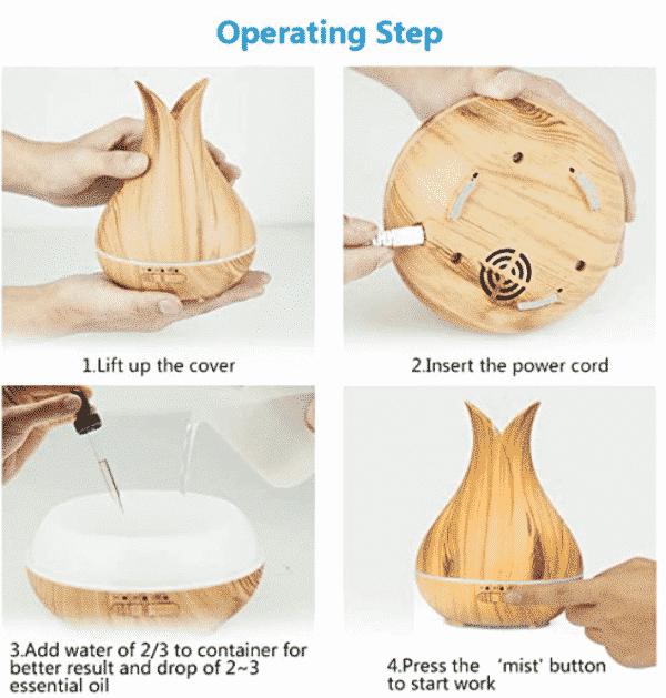 Humidificateur bois